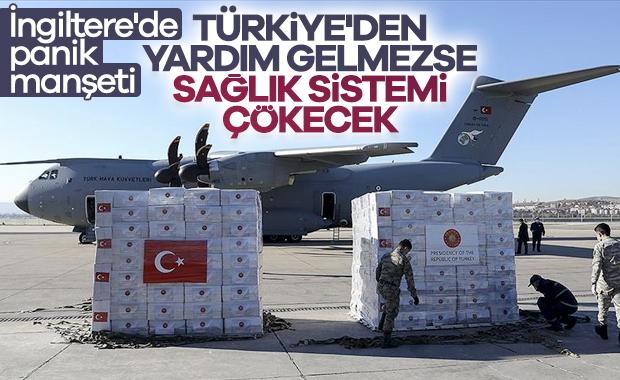 İngiltere'nin gözü, Türkiye'den yapılacak tıbbi yardımda