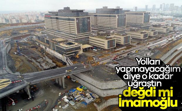 İBB'nin yollarını yapmadığı şehir hastanesi hizmette