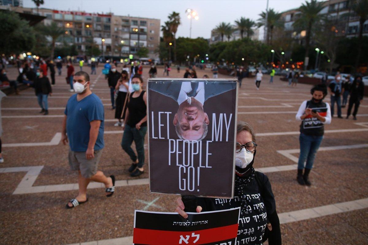 İsrail'de sosyal mesafeli Netanyahu protestosu