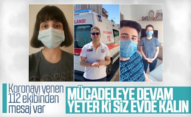 Koronavirüsü yenen sağlık çalışanlarından mesaj