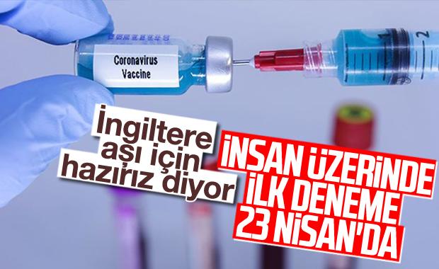 İngiltere, korona aşısını insanlar üzerinde denemeye başlıyor