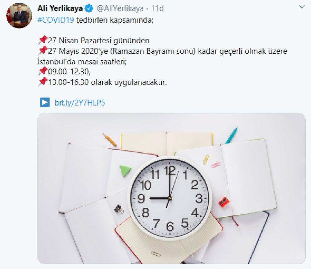 İstanbul'da kamu mesai saatlerinde değişiklik