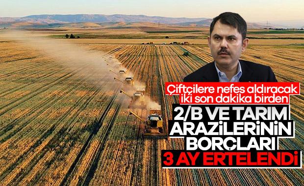 Tarım arazilerinin satış ve ecrimisil ödemelerine erteleme