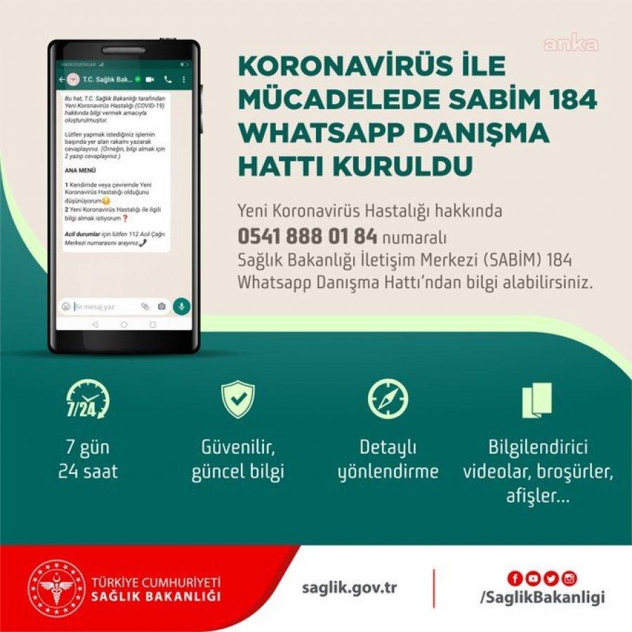 Sağlık Bakanlığı 'WhatsApp Danışma Hattı' kurdu