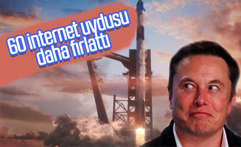 SpaceX, 60 internet uydusunu daha uzaya gönderdi