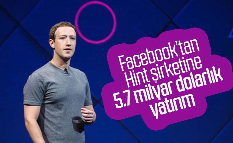 Facebook'tan, Hindistan'a 5.7 milyar dolarlık dev yatırım