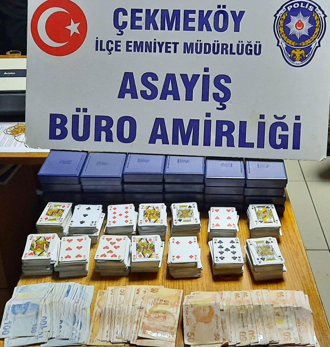 Çekmeköy'de iki iş yerine kumar operasyonu