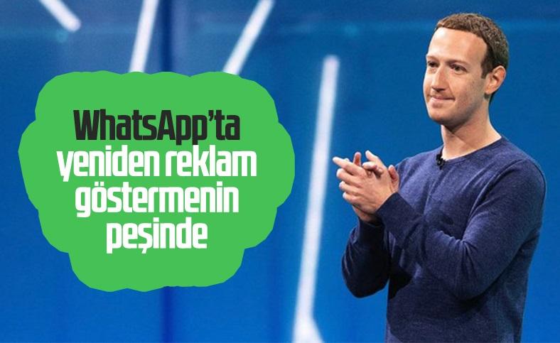 WhatsApp'ta reklam gösterme yeniden Facebook'un gündeminde