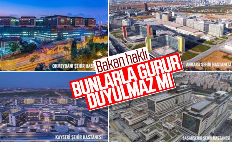 Bakan Koca'nın şehir hastaneleri paylaşımı