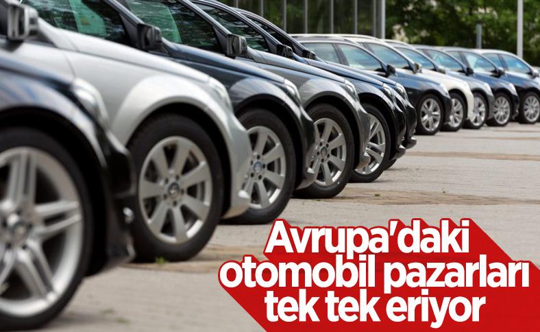 Avrupa otomobil pazarı ilk çeyrekte yüzde 26 küçüldü