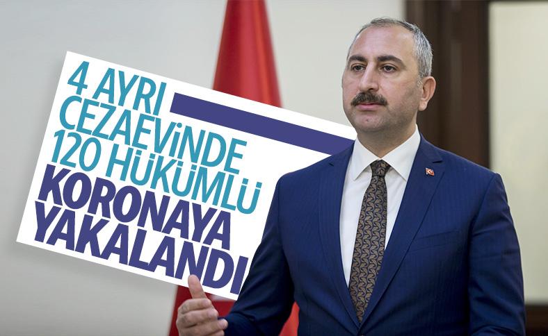 Cezaevlerindeki 120 tutukluya korona tanısı konuldu