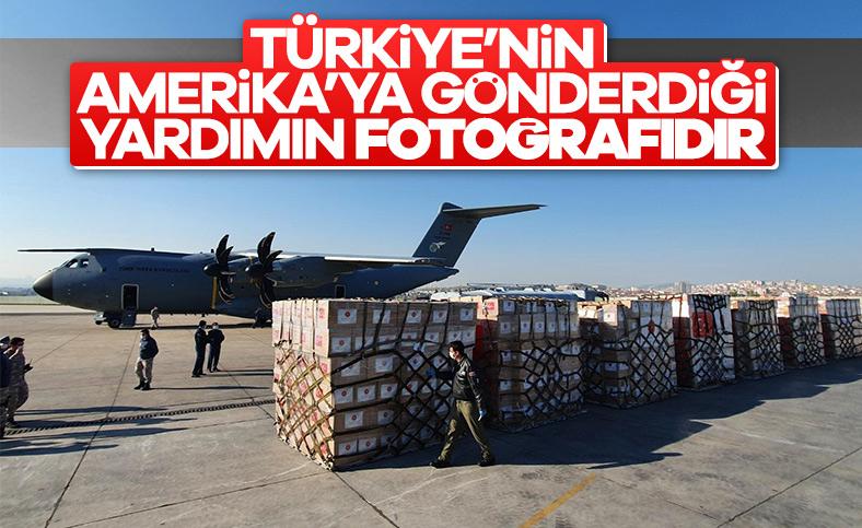 Türkiye'den Amerika'ya yardım malzemesi