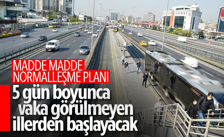 Türkiye için normale dönüş planı hazırlanıyor
