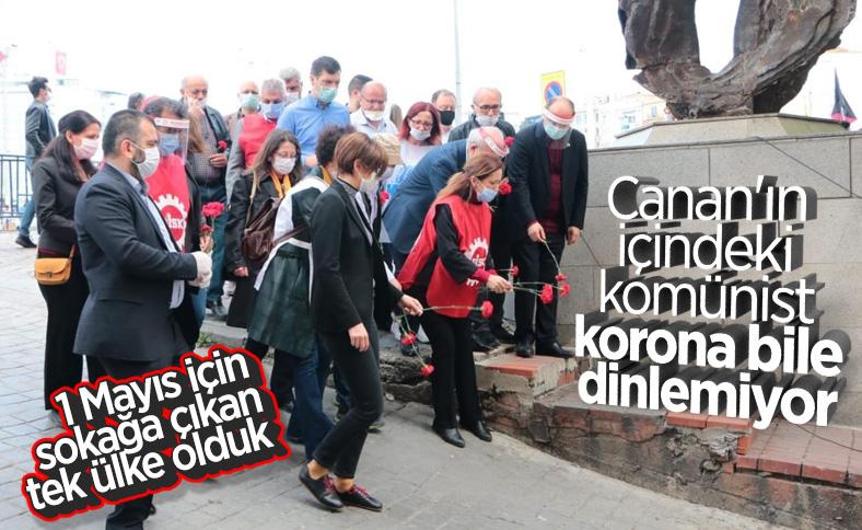 Taksim'de koronaya rağmen 1 Mayıs anması