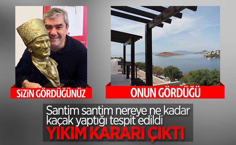 Bodrum Belediyesi, Özdil'in kaçak yaptığını tescilledi