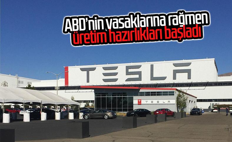 Tesla, ABD'nin yasağını delerek üretime başlamayı planlıyor
