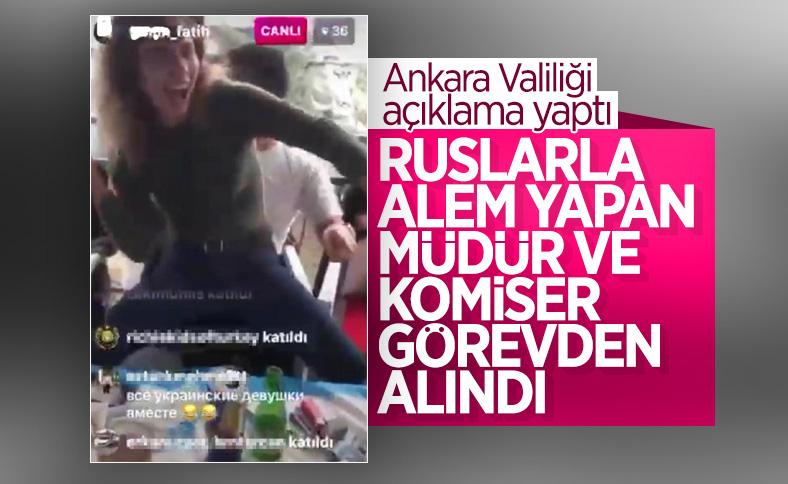 Ankara'da parti düzenleyen iki polis görevden alındı