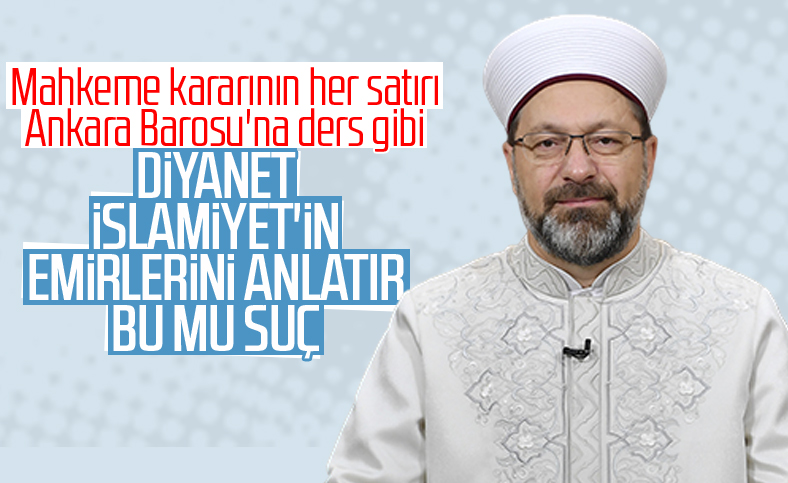 Ankara Barosu'nun Ali Erbaş'a soruşturma talebi sonuçlandı