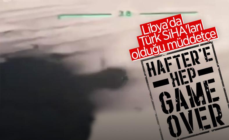 SİHA, Hafter'in araçlarını imha etti
