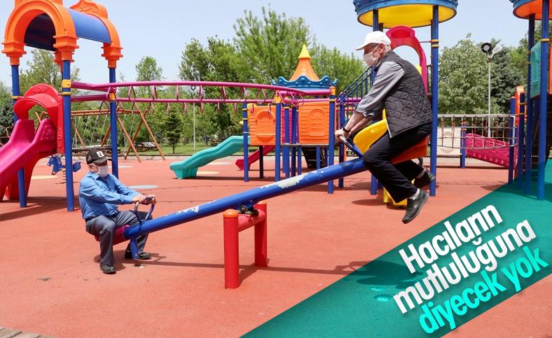 65 yaş ve üzeri vatandaşlar parklara akın etti