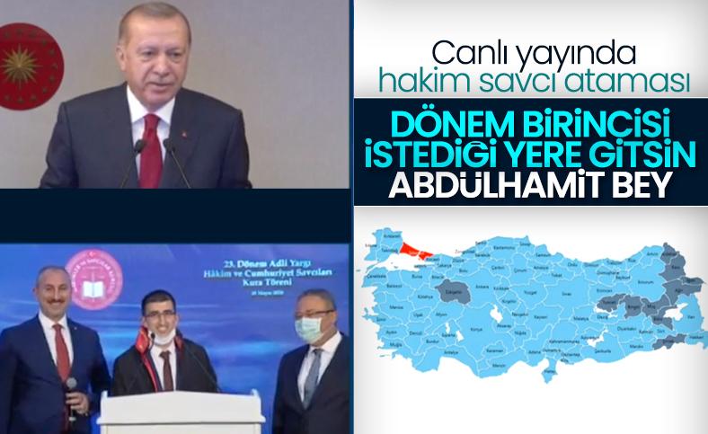 Cumhurbaşkanı Erdoğan yargı atamaları töreninde konuştu