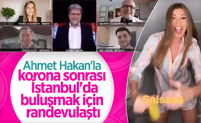 Ahmet Hakan'dan Maria Gladkikh'e İstanbul teklifi