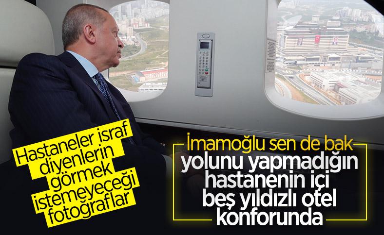 Erdoğan, Başakşehir Şehir Hastanesi'ni inceledi