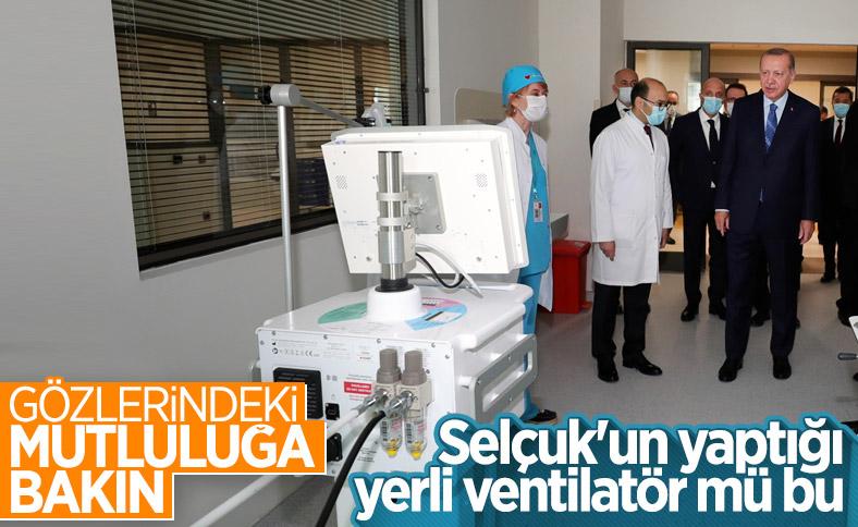 Erdoğan, Başakşehir'de yerli solunum cihazını inceledi