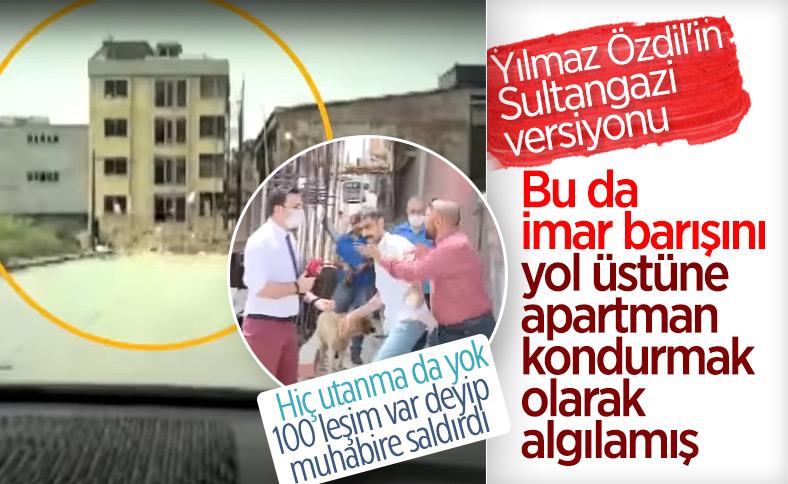 Sultangazi'de yolun ortasına dört katlı bina yapıldı