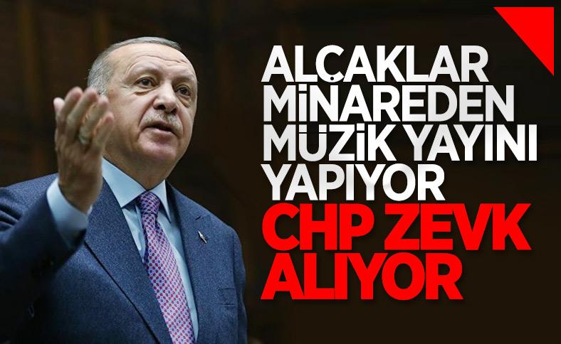 Cumhurbaşkanı Erdoğan'dan CHP'ye ezan tepkisi