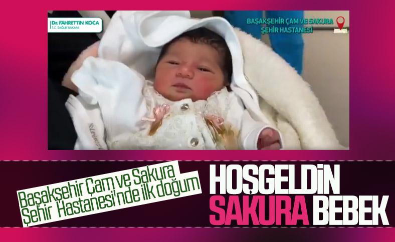 Başakşehir Çam ve Sakura Hastanesi'nde ilk bebek doğdu, Defne Sakura ismi verildi