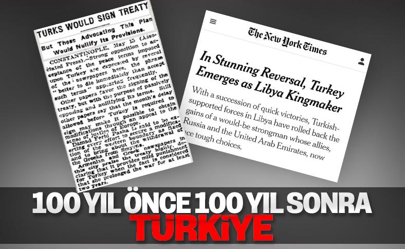 NY Times'ın 100 yıl önce ve 100 yıl sonra Türkiye haberi