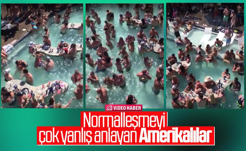 ABD'de düzenlenen havuz partisi tepki çekti