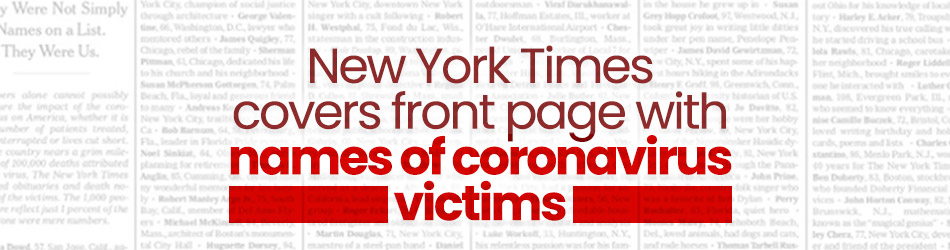 New York Times lists name of coronavirus victims