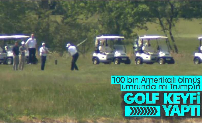 Trump, Virginia'da golf oynadı