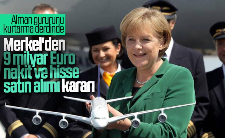 Alman hükümetinden Lufthansa'ya 9 milyar euroluk yardım