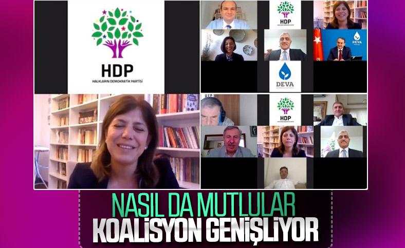 HDP ile 4 parti arasında online bayramlaşma
