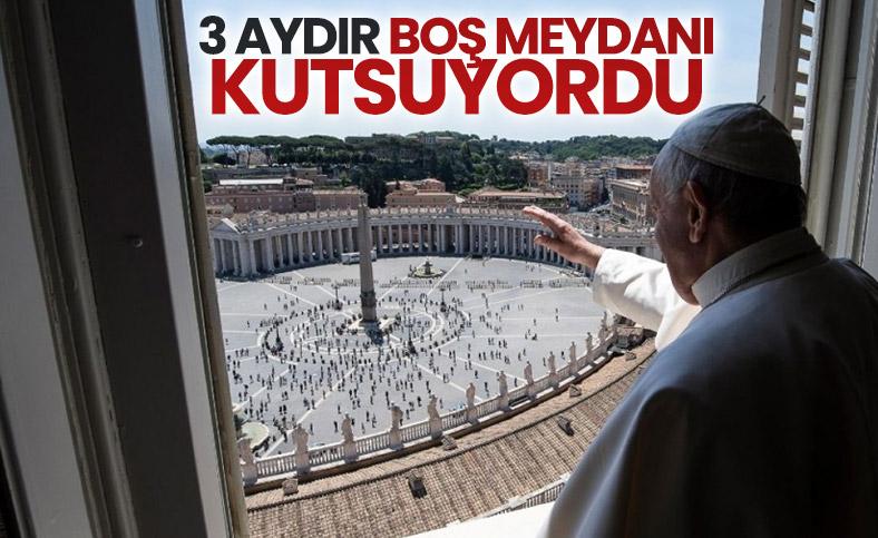 Papa Francis, 3 ay aradan sonra ilk kutsamayı yaptı