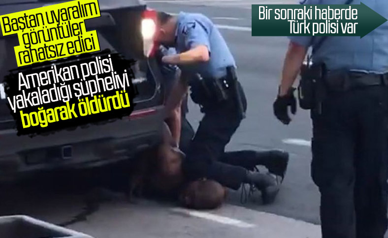 ABD'de polis, şüpheliyi boğarak öldürdü