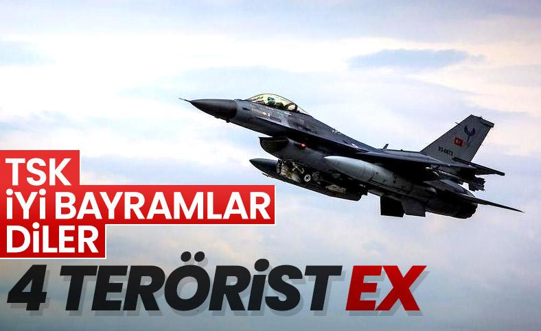 Hakurk'ta 4 terörist hava harekatıyla öldürüldü