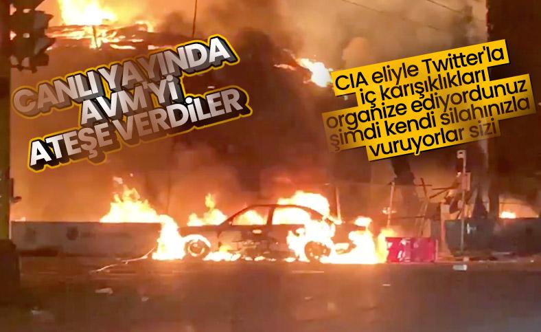 ABD'de yağmalanan AVM'ler ateşe verildi