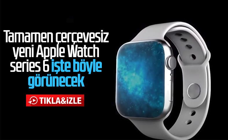 Çerçevesiz tasarımıyla Apple Watch Series 6 konsept video
