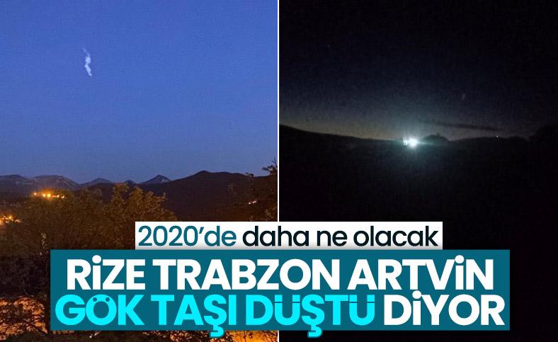 Doğu Karadeniz'e gök taşı düştü iddiası