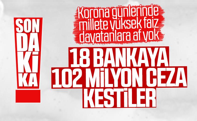 BDDK'dan 18 bankaya toplam 102 milyon ceza