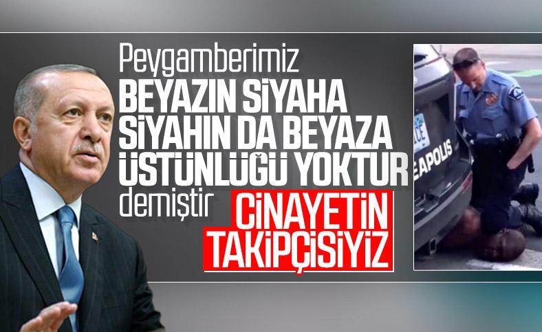 Cumhurbaşkanı Erdoğan, ABD'deki polis şiddetini kınadı