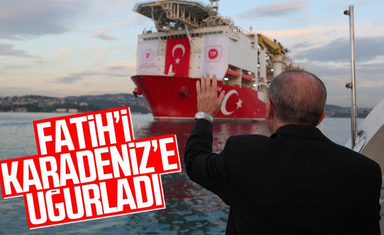 Sondaj gemisi Fatih, Karadeniz'e doğru yola çıktı