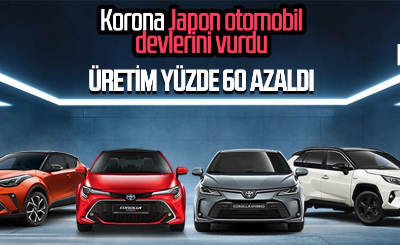 Toyota, Honda ve Nissan'da üretim yüzde 60 azaldı