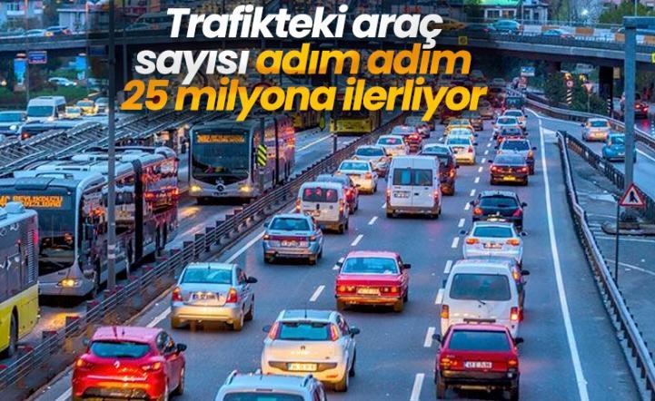 İlk 4 ayda trafikteki taşıt sayısı  243 bin arttı