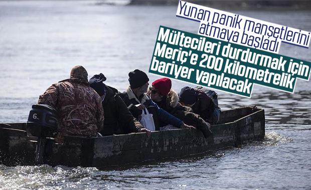 Yunanistan, mülteciler için sınıra bariyer çekiyor