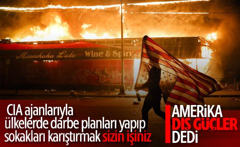 ABD yönetimi, şiddetli gösteriler için dış güçleri suçladı